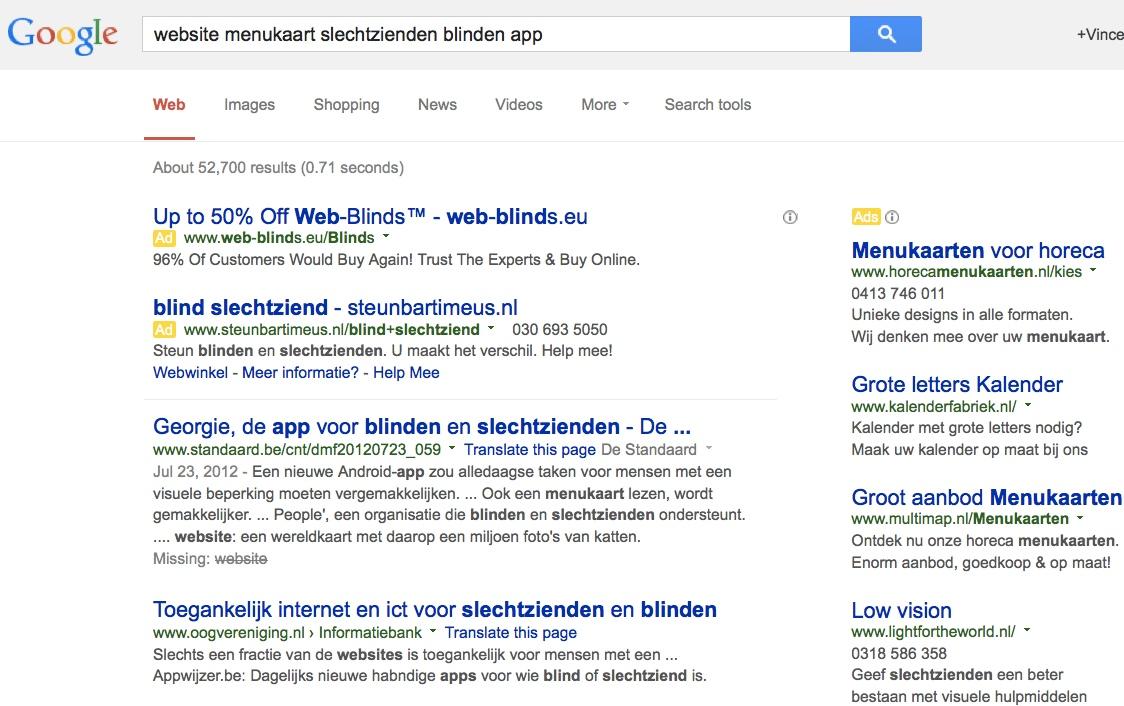 google zoeken app
