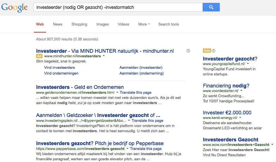 investeerder nodig gezocht min investormatch